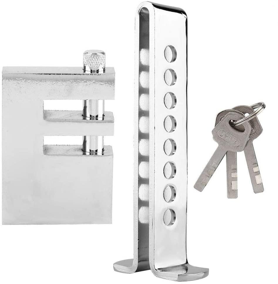 Car Wheel Lock - 8 Hole Auto Car Brake Clutch Pedal Lock Car Steering Wheel Lock Stainless Anti-Theft Lock
