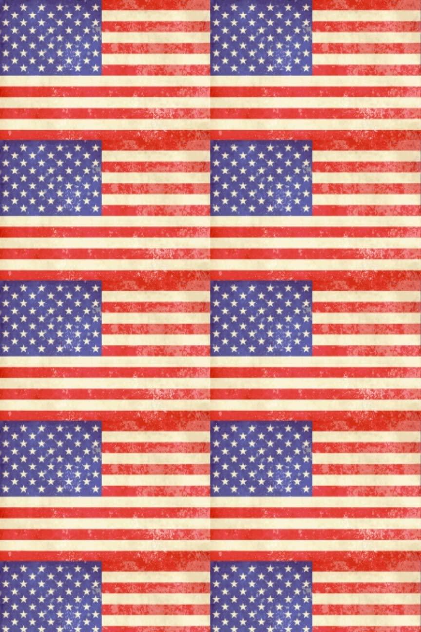 American Flag Vintage Heat Transfer Vinyl Sheet for Silhouette HTV for Clothing - Free Bonus Transfer Mask Included Premium Heat Transfer Vinyl
