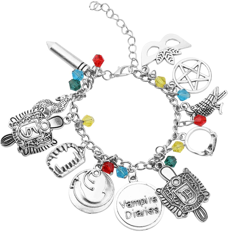 SEIRAA Vampire Diaries Fans Gift Vampire Diaries Movie Charm Bracelet Cosplay Costume Jewelry for Women Girls