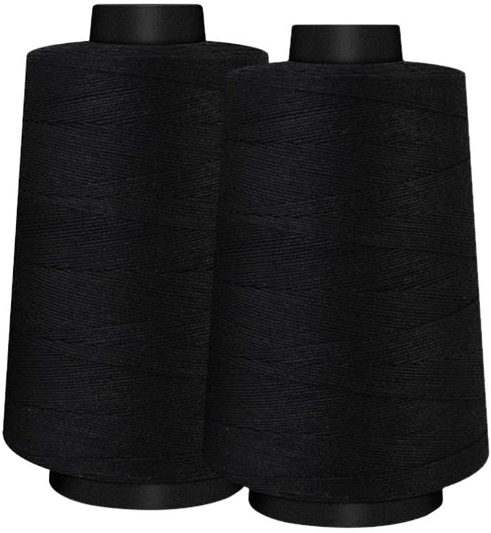 1275 Yard Spool Sewing Thread All Purpose 104% Spun Polyester Overlock Cone Upholstery, Canvas, Drapery, Beading, Quilting,Serger,Over Lock, Merrow, Single Needle