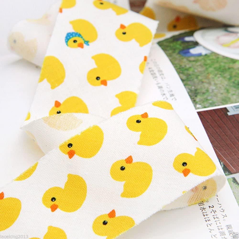 10Yds Bias Tape binding Cotton trim 3.7cm Bias Cut cozy Rubber Duck