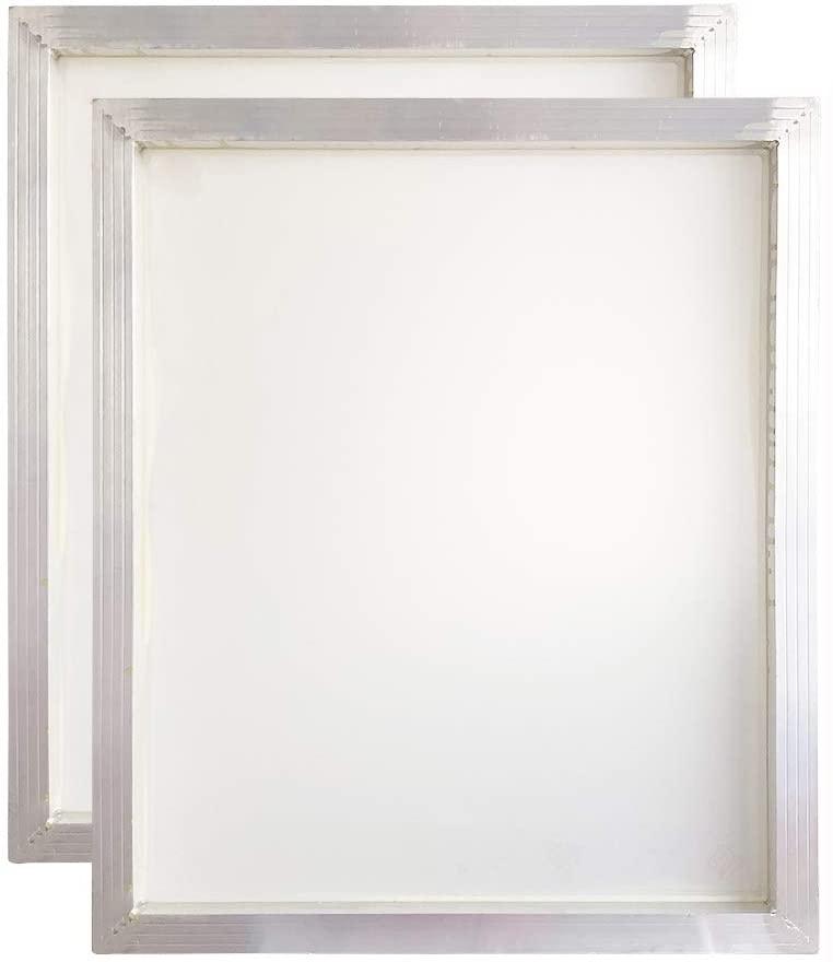 Aluminum Silk Screen Printing Screens 20 x 24 Inch Frame-110 White Mesh (2 PCS)