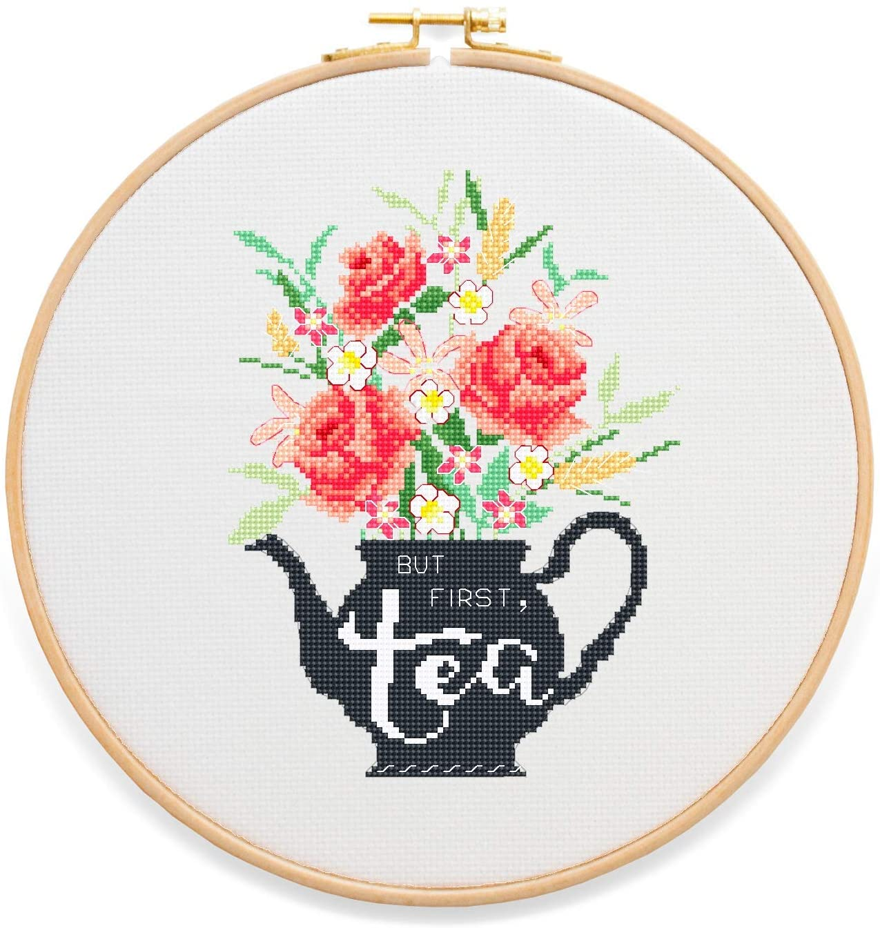 But First Tea Cross Stitch Kit by Stitchering