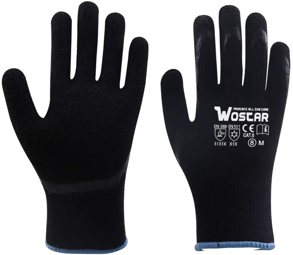 Winter Work Gloves, Freezer Winter Working, Smart Touch, Acryl Fiber Lined with Tight Grip Palms-Cold Temperatures Cold Storage gloves, 2 Pairs