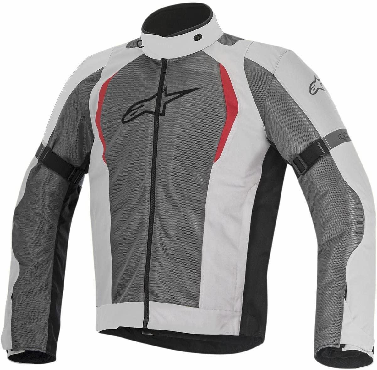 Alpinestars Men's Amok Air Drystar Motorcycle Jacket, Light Gray/Dark Gray, 2X-Large