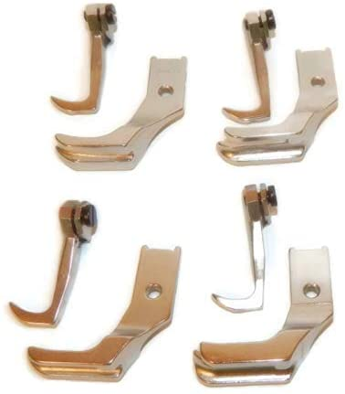 CKPSMS Brand - #KP-PWF4-2 4SET Smooth Bottom Piping Walking FEET FIT for Singer 111W 211A 211G 211U 211W (S32 3/16+1/4+5/16+3/8)