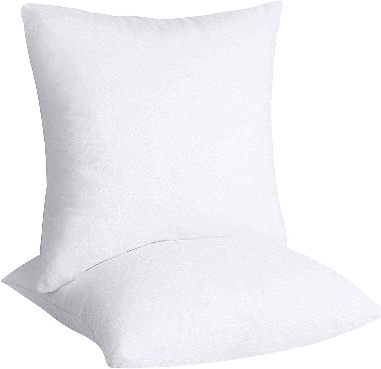 Youngnet Set of 2 Premium Hypoallergenic Polyester Stuffer Pillow Inserts Rose Pattern Sham Square Form Indoor Decorative Pillows 16