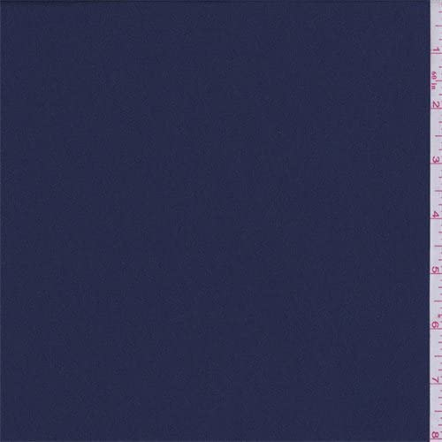Berry Blue Polyester Crepe, Fabric by The Yard