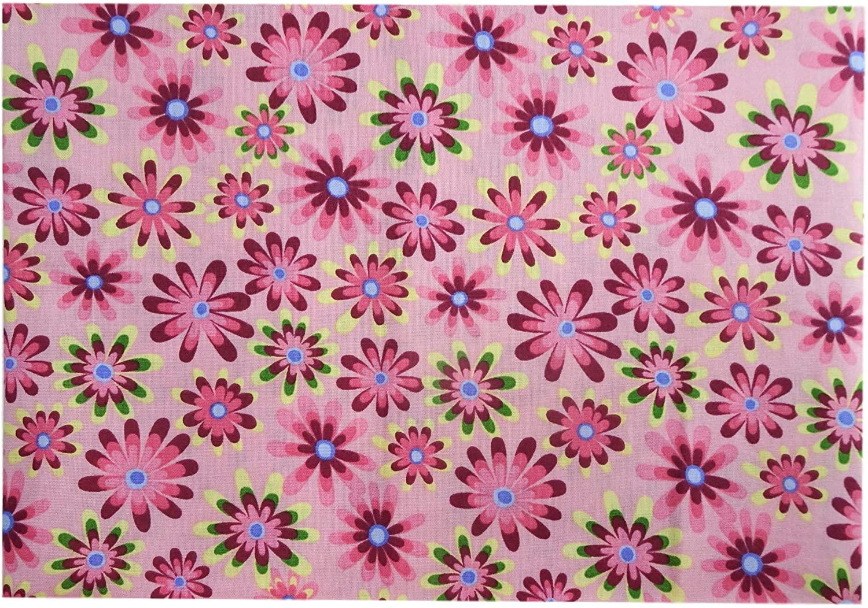 Floral Fabric Cotton Vintage Style Retro Flower Power 44