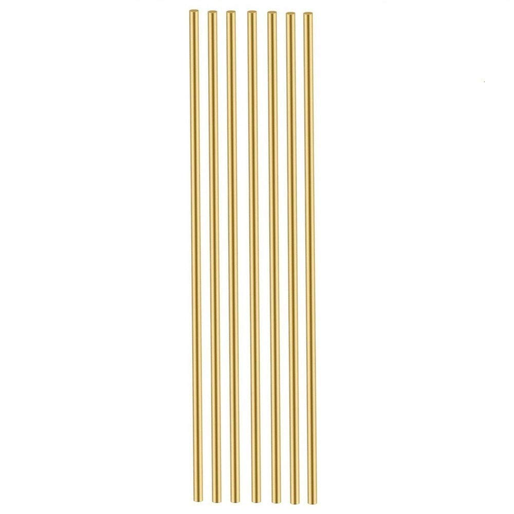 7 Pcs 9/64 inch Solid Brass Rods Lathe Bar Stock Kit Brass Round Stock 3.6 mm/ 9/64 inch in Diameter 12 Inch in Length,C27400
