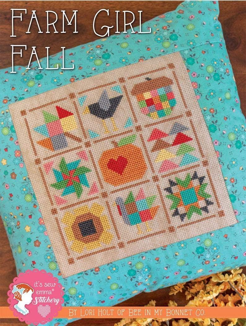 Farm Girl Fall Cross Stitch - It's Sew Emma - ISE401-602573579251
