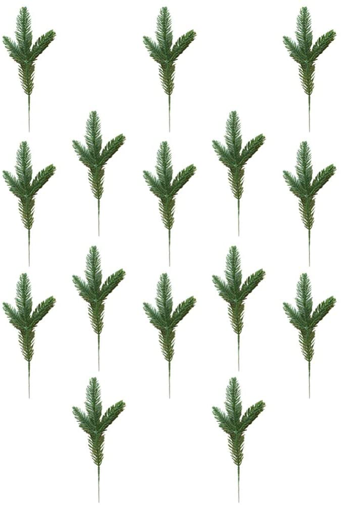 BESPORTBLE 35pcs Artificial Pine Branches Green Plants Pine Needles DIY Accessories for Garland Wreath Christmas Embellishing Xmas Decoration
