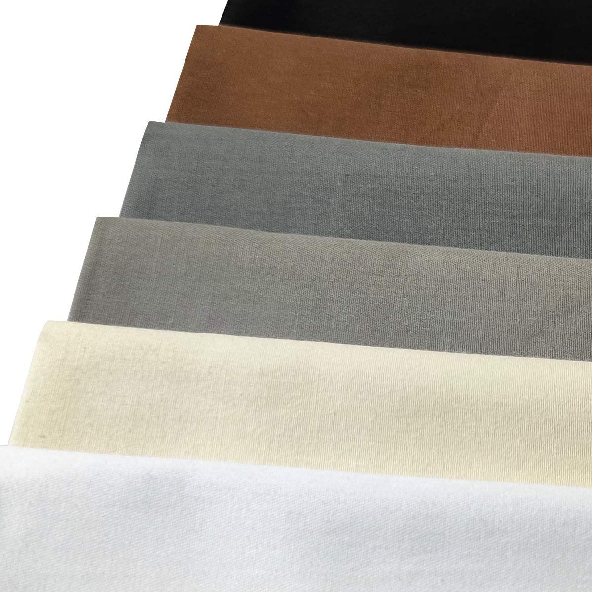 Misscrafts 7pcs Quilting Fabric 100% Cotton Craft Fabric Bundle Squares Fat Quarters 18