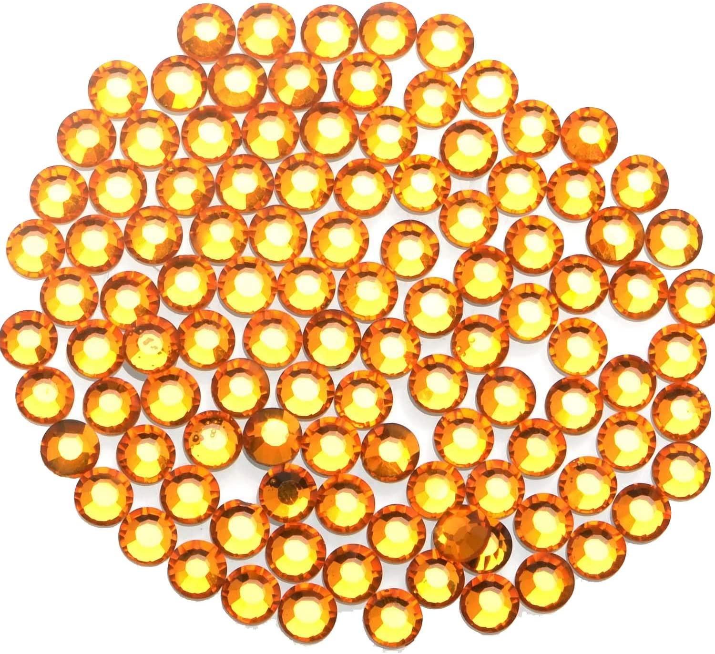1000 Pieces Hot Fix Glass Flatback Rhinestones HotFix Round Crystal Gems (Topaz, SS20)