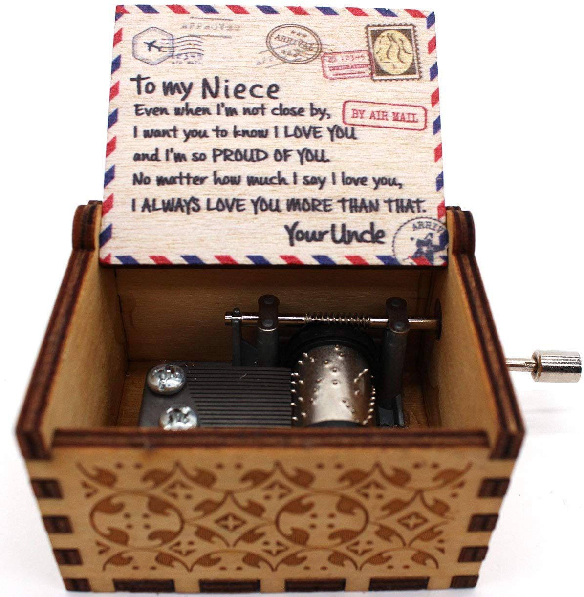 Buildinest You are My Sunshine Music Box – Mail Style Music Box - Gifts from Uncle to Niece - 1 Pcs(Mail)
