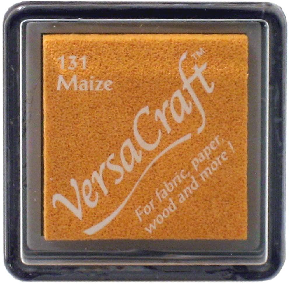 Tsukineko Small Size VersaCraft Fabric and Home Decor Crafting Pigment Inkpad, Maize