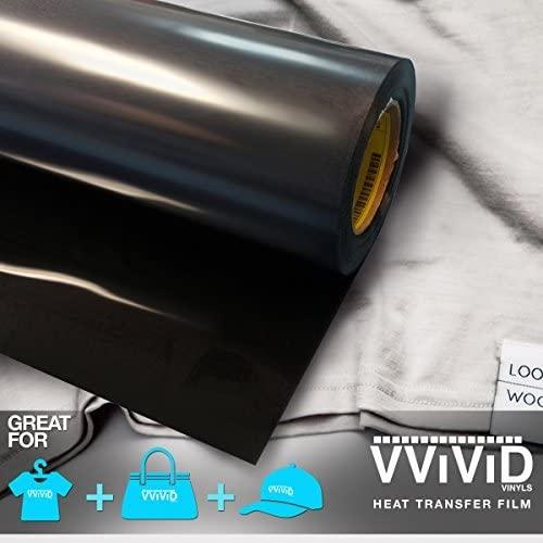 VViViD Black Heavy-Duty Iron-on Heat Transfer Vinyl Film (12