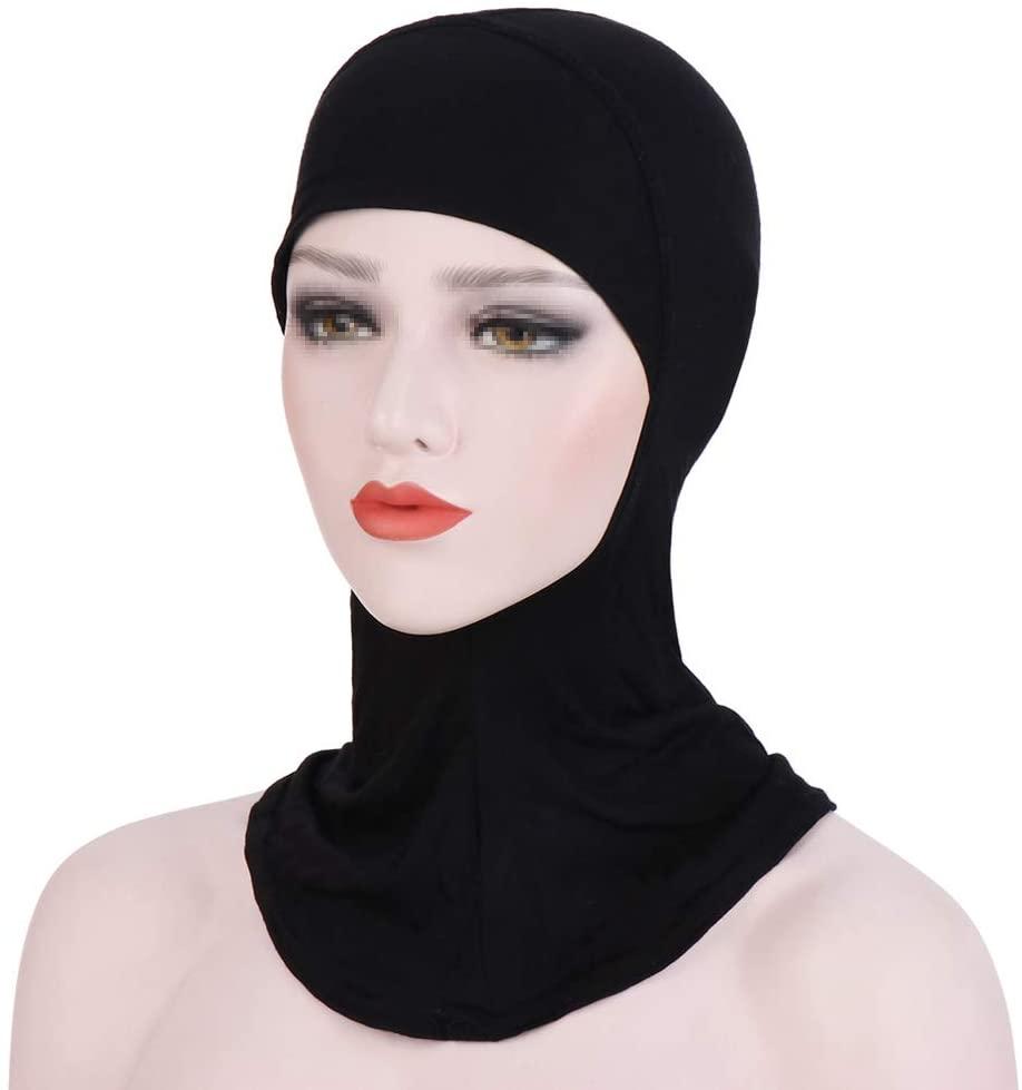 ieasysexy Women Muslim Under Scarf Hijab Cap Solid Color Islamic Neck Cover Head Wear Cap