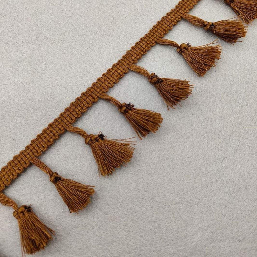 Tassel Fringe Trim 2 Yards Cotton Lace Tassels Fringe Lace Trim Ribbon for Women Dress Bags Curtain Home Decor