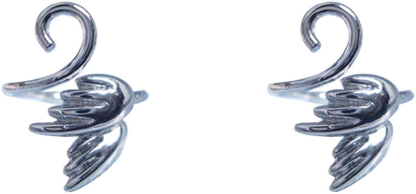 2PCS Adjustable Knitting Loop Crochet Loop Knitting Needles Mate- Open Finger Ring Yarn Guide Finger Holder, Faster Knitting Tool - Thanksgiving Gift for Mother Grandma (2PCS x Angel Wings)