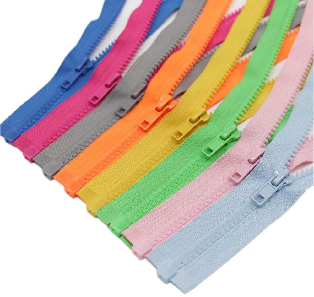 Meillia 8PCS 12 Inch Separating Jacket Zippers for Sewing Coat Clothes Jacket Zipper Heavy Duty Plastic Zippers Bulk in 8 Colors (12 8pcs)
