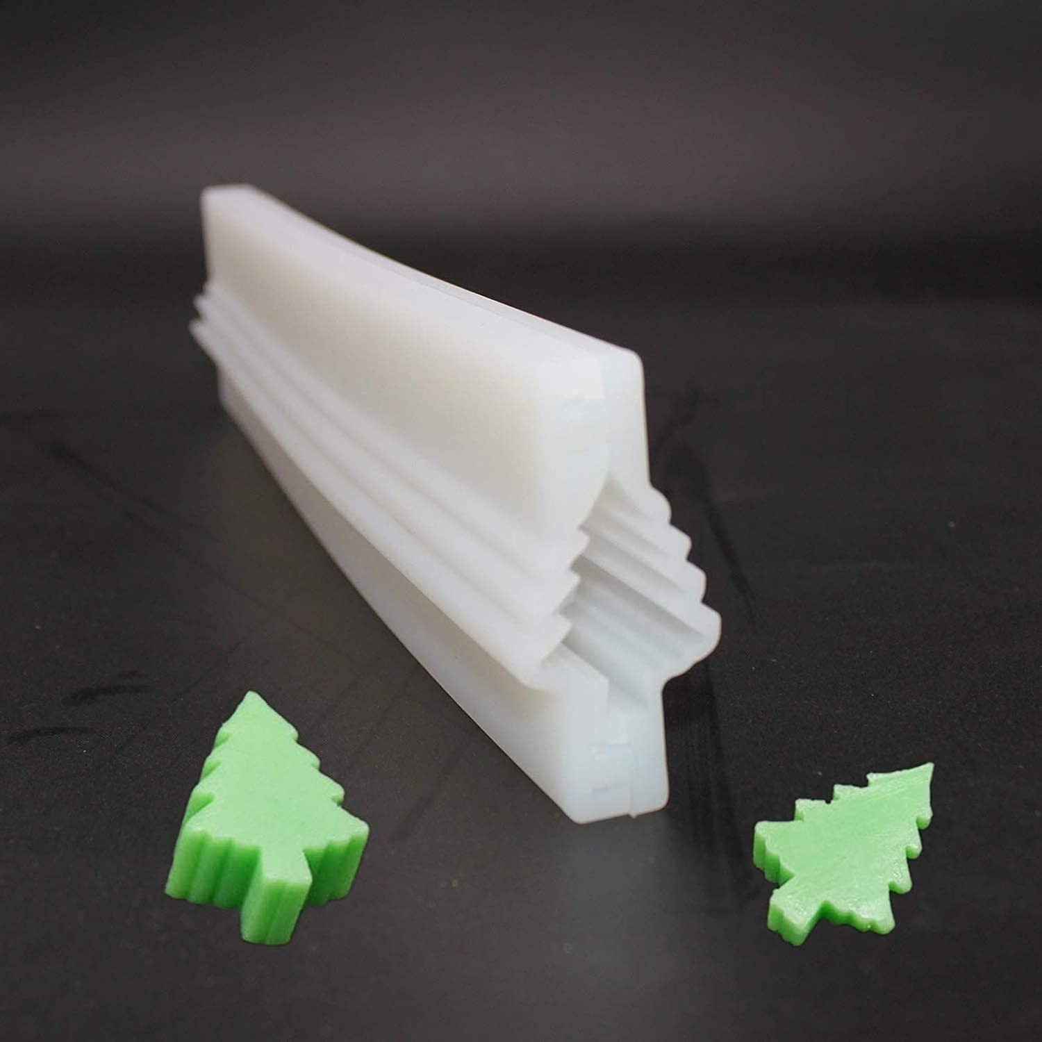 Christmas Tree Tube Column Silicone Soap Mold Embed Soap Making Supplies