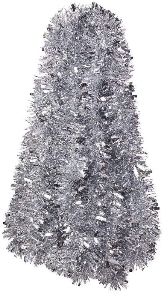 DIYASY 33 Feet Silvery Tinsel Garland for Christmas,Birthday Wedding Party,Holiday Decoration.