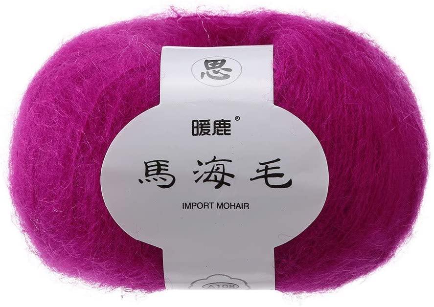 Printasaurus The Yarn Soft Mohair Knitting Wool Yarn DIY Shawl Scarf Crochet Thread Supplies Home & Garden Home Textiles