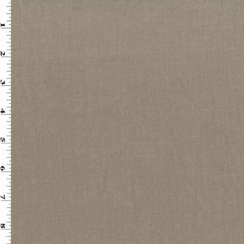 Mocha Brown Linen Blend Canvas, Fabric by The Yard
