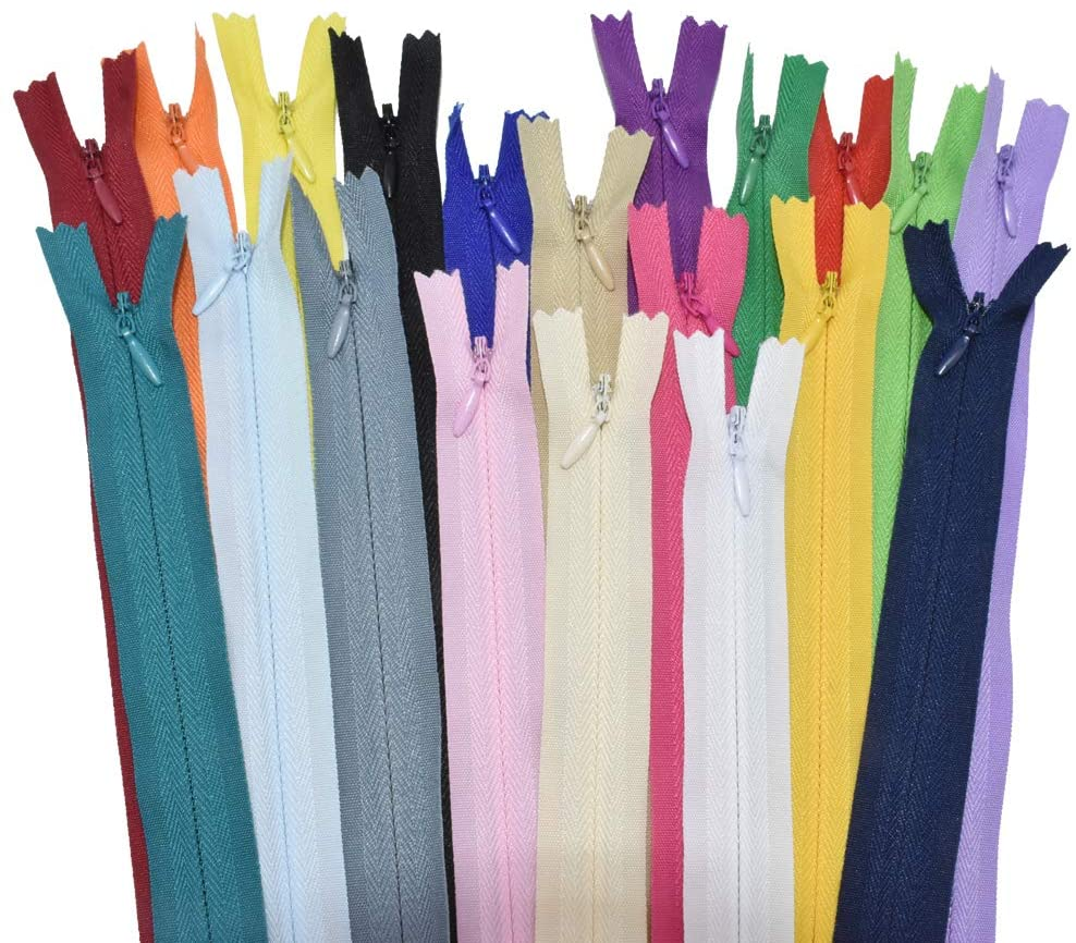 12.5 40 Pcs Nylon Invisible Zipper for Tailor Sewer Sewing Craft Crafters Tools Garment Special 20 Colors (12.5inch)
