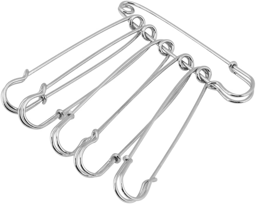 50Pcs Iron Safety Pins Multi-Functional Craft Pin Set for Jewelry Making DIY Clothes Accessories 75mm