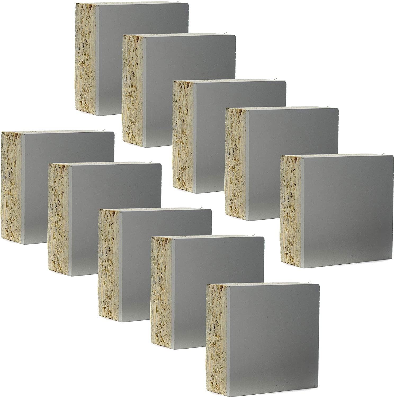 Mounted Carve Block Linoleum Studio Print Plate Gray Cut Carving Plates 10-Pack Project Artist Printmaking Art Set (2