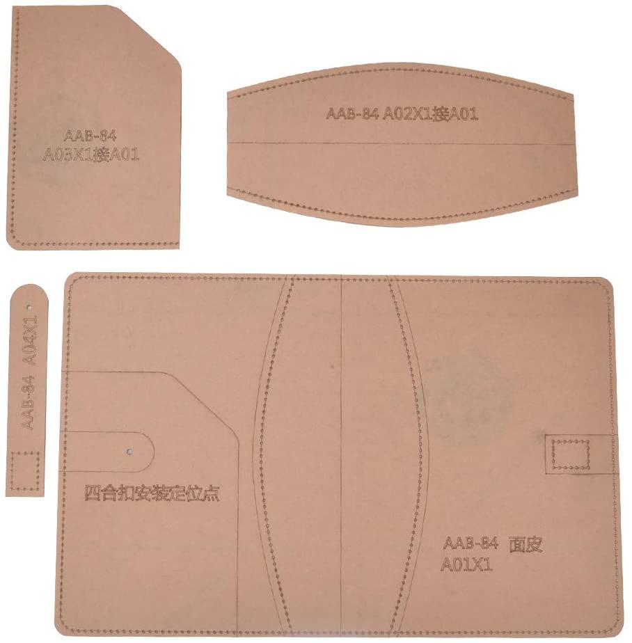 Delaman Craft DIY Tool, Leather Template Set Transparent Acrylic DIY Hand-Made Notebook Cover Craft Tool