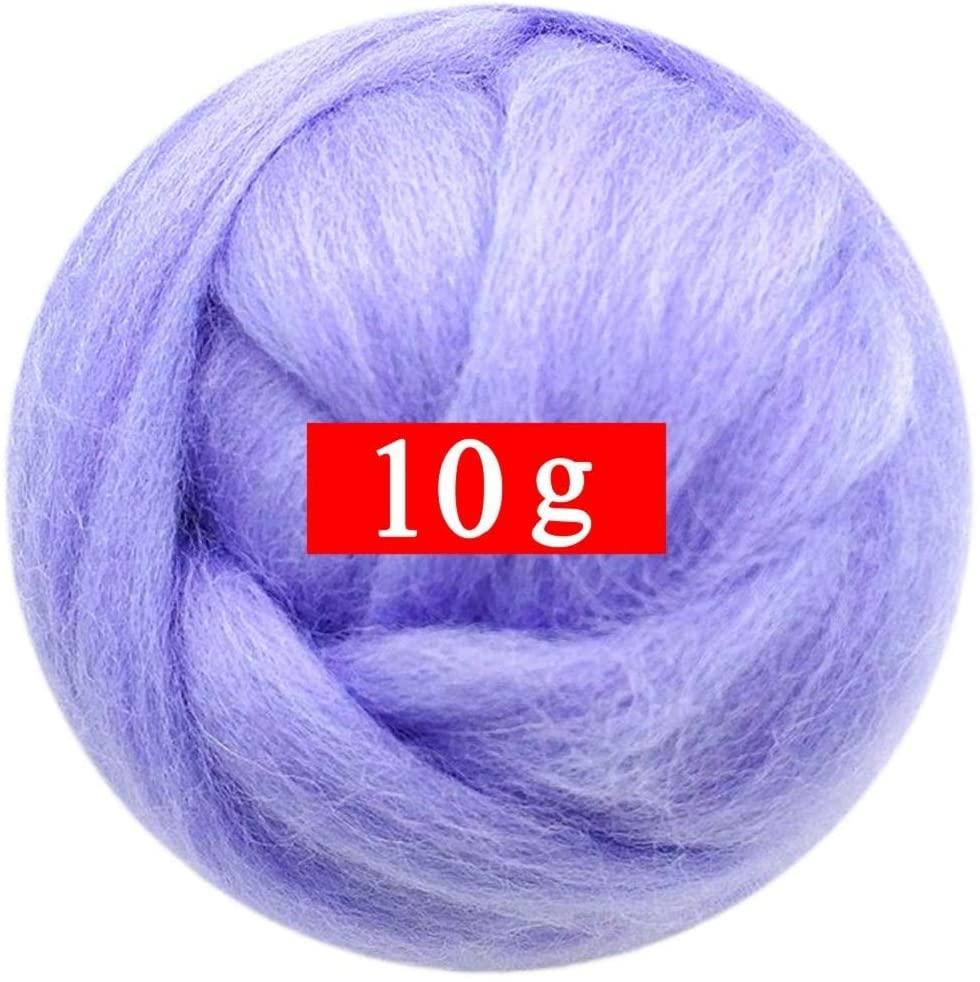 0.35oz Needle Felting Wool Roving Merino 70S Grade Eco-Friendly Super Soft Natural Wool Fiber for Needle Felting Kit 40 Color Options (39)