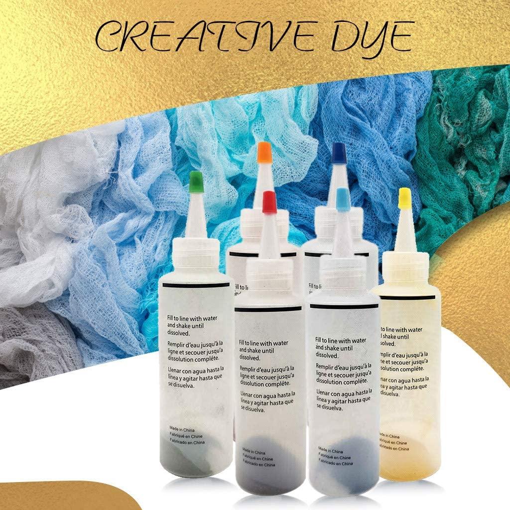 Tie Dye Kits,6 Colors One-Step Tie-Dye Kits,Fabric、Textile Paints,Colorful Tie Dying Sets,Muti-Color Dyes for DIY Arts Clothes、Shoes, Bags, Hats (Multicolor)