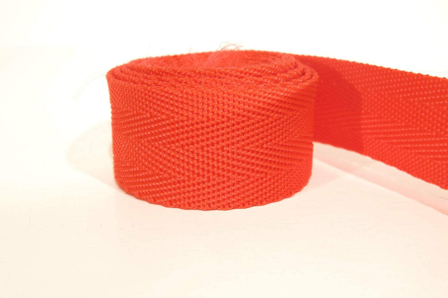Ribbon for Wedding Gift Bouquets - Wrapping - Party Decorations - DIY Crafting 3 Yards of 1 inch / 25mm red Webbing, Strap (WB5)