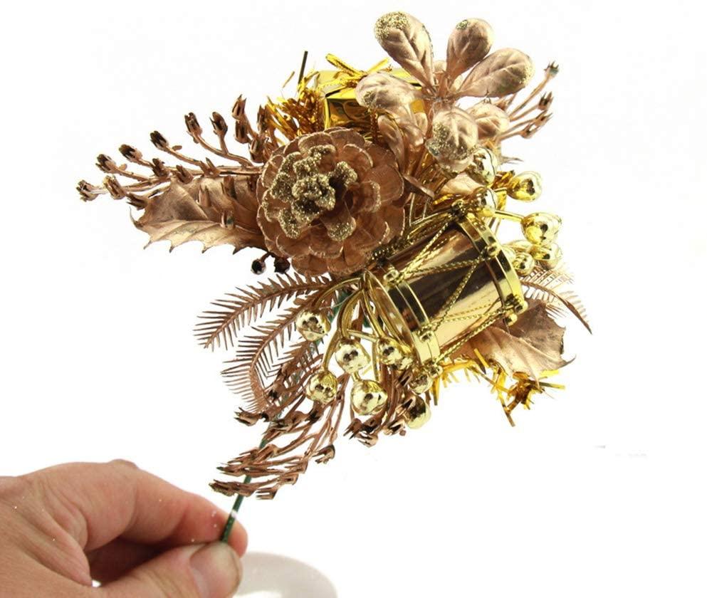 Riverbyland 6 Christmas Picks Artificial Floral Spray 3 PCS