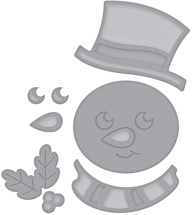 Snowman Avatar Cutting Dies for Card Making Metal Cut Dies Mould 3D Stencil Template for DIY Decorative Embossing Photo Scrapbook Album Paper Letter Craft Compatible Die Cutting Machine