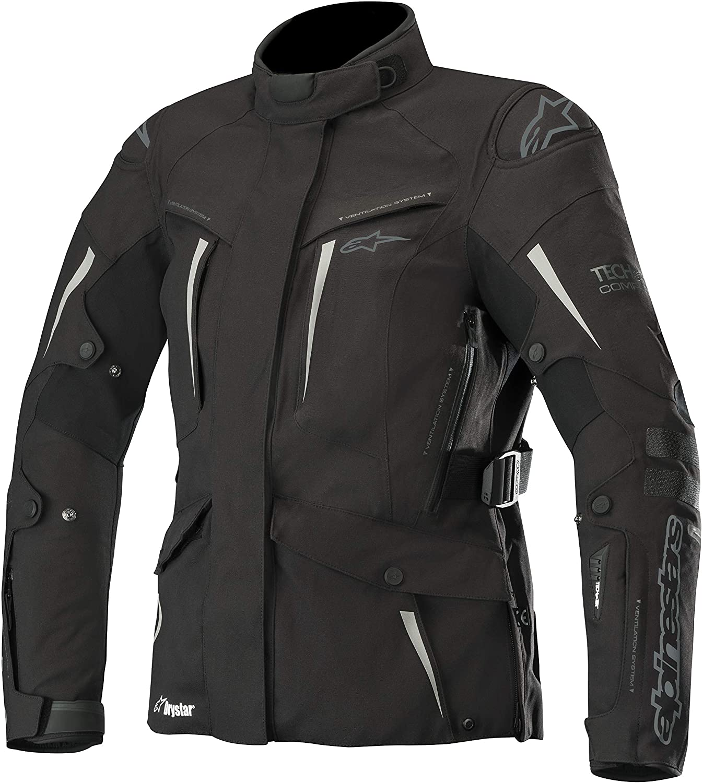 Stella Yaguara Women's Drystar Waterproof All-Weather Motorcycle Jacket for Tech-Air Street Airbag System (Medium, Black Anthracite)