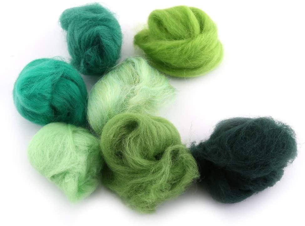Durable in Use Easy to Felt Needle Felting Fiber, Professional Easy to Store Wool Fiber, Lightweight for Spinning Felting