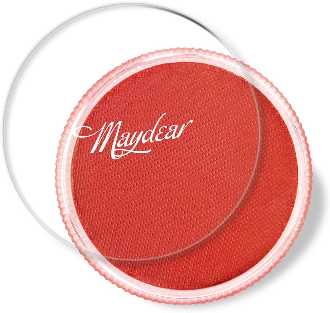 Maydear Face Body Paint Red,Classic Single,Professional Face Paint Palette,Large Water Based Paints (30g)