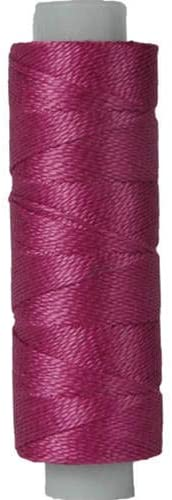 Threadart Pearl Cotton Thread | 75yd Spools Size 8 | Perle Cotton for Friendship Bracelets, Crochet, Hardanger, Cross Stitch, Needlepoint, Hand Embroidery | Color 718 - PLUM - 40 Colors Available