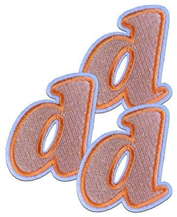 OrangeD Letter Iron on Patches 3pcs Childrens Alphabet Letter Iron on Patches Approx. 2.15 x1.81 inches