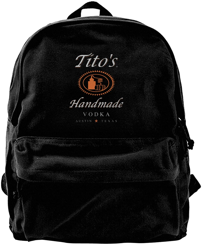 Tito'S Vodka Durable Backpack, Travel Laptop Bag, Unisex