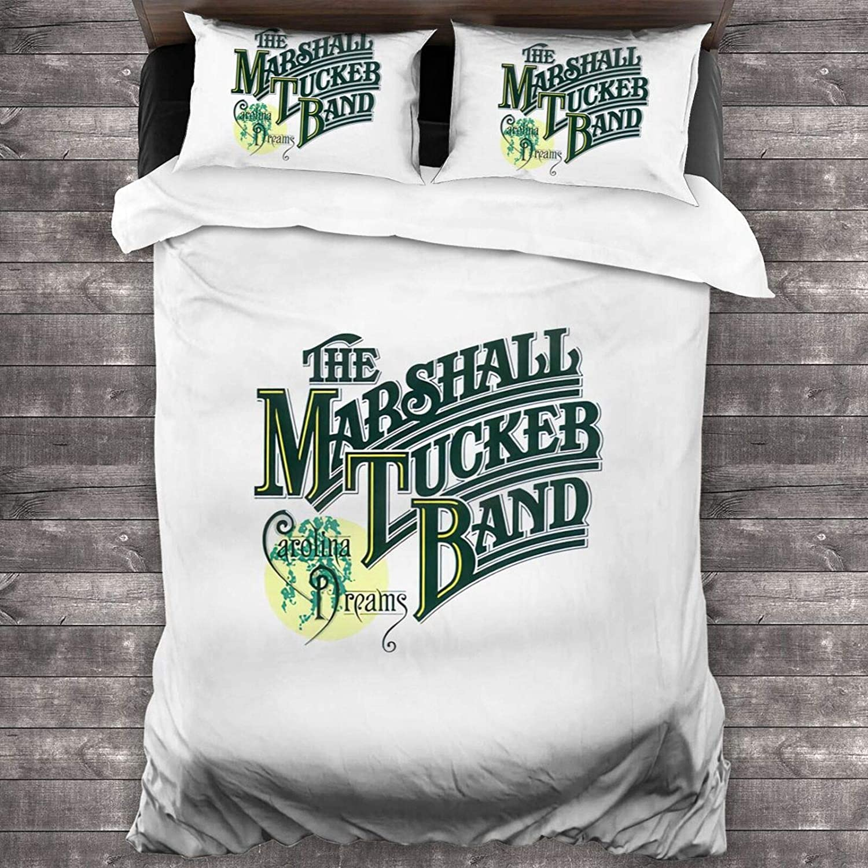 Jayjun The Marshall-Tucker Band Three Piece Bedding 100% Soft Microfiber Bed Suit Bedroom Decoration Three Piece Set