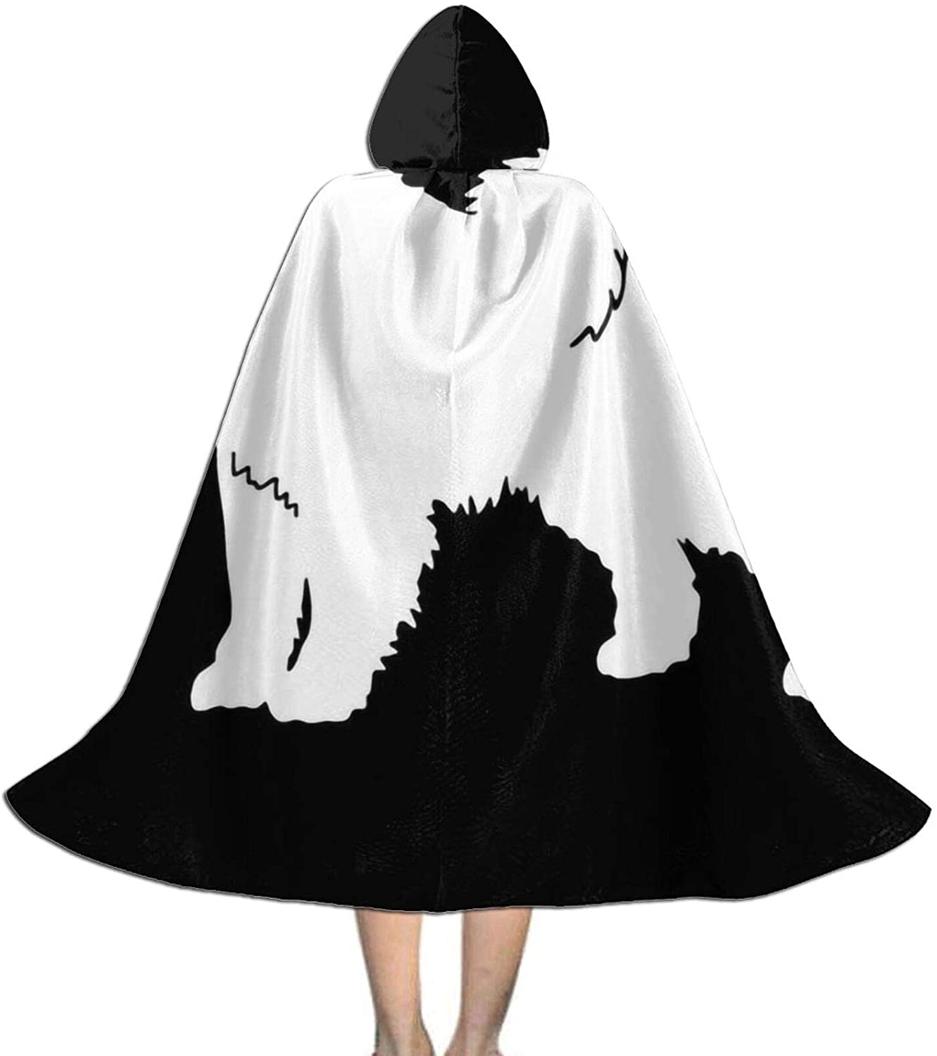 LNUO-1 Unisex Samoyed Dog1 Kid's Long Hooded Cloak Cape for Halloween Party Role Cosplay Costumes