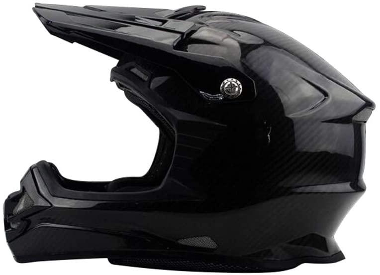 Helmets Motorcycle Helmet, Carbon Fibmet Autocycle Helmet Men Women Allround Cycling Hard Hat Moto Electric Vehicle Full Face Helmet (Color : A, Size : XXL)