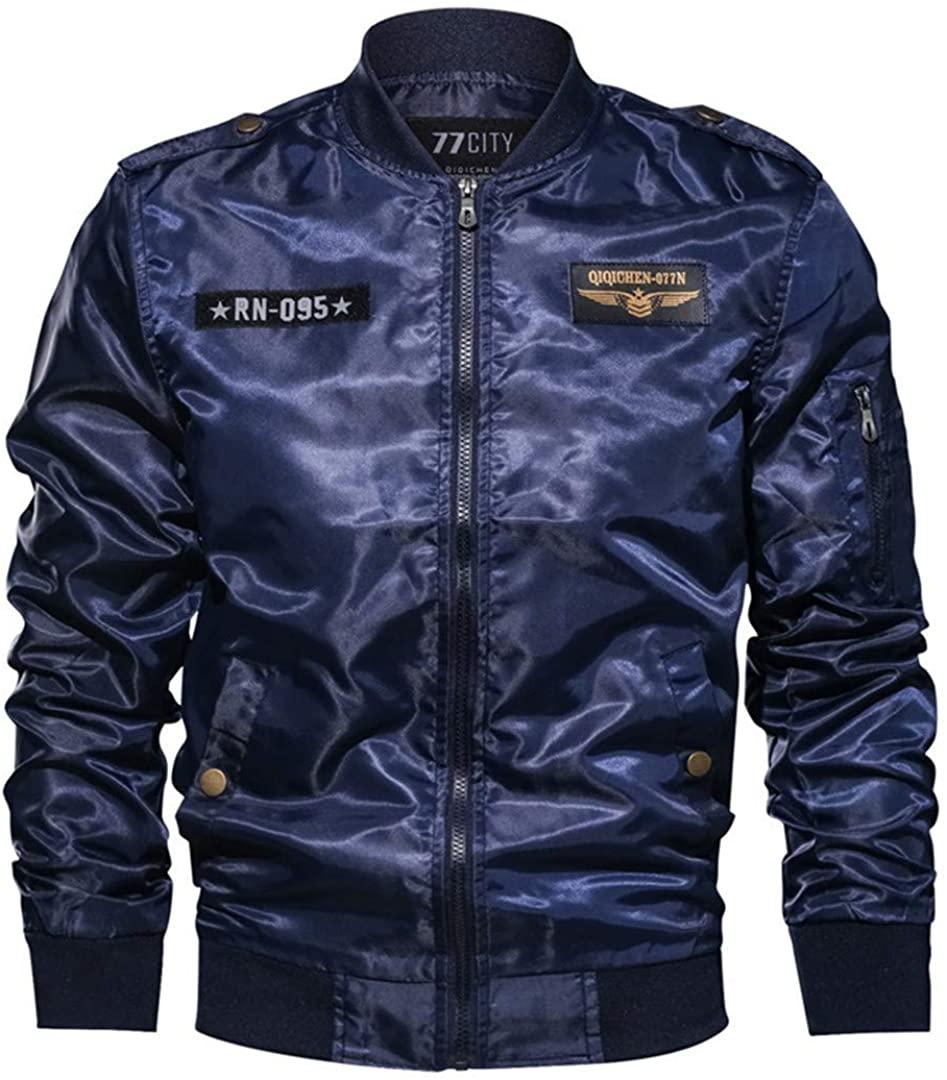 Bomber Men Military Style Embroidery Design Windbreaker Pilot Bomber Jacket Coat