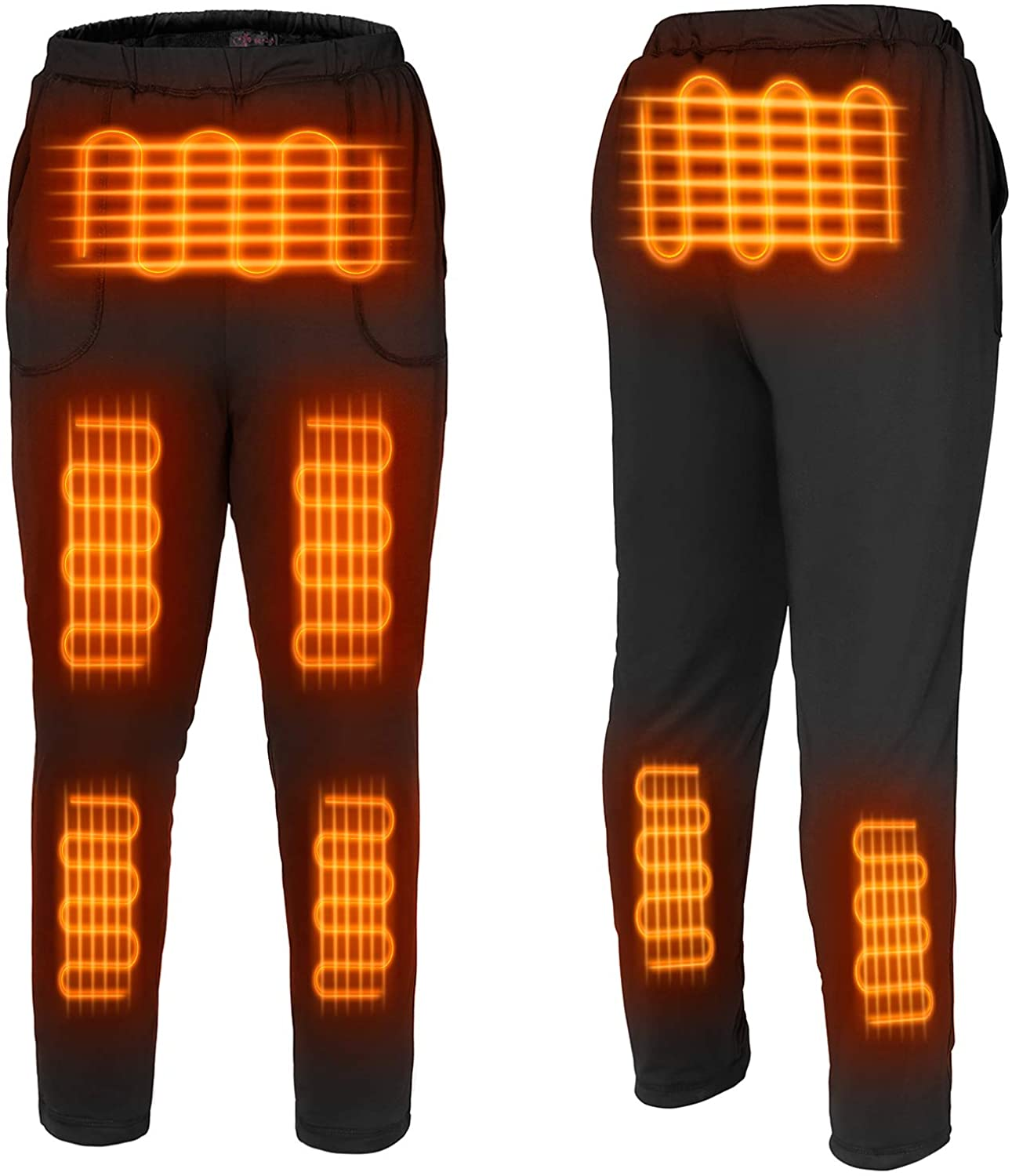 FERNIDA Heated Pants USB Electric Thermal Heating Trousers Cold-Proof Bottom Men/Women(Battery Not Included)
