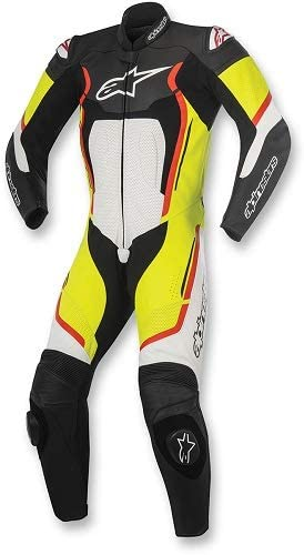 Alpinestars Men's 3151017-1253-46 Suit Black/Red/White/Yellow Size 46
